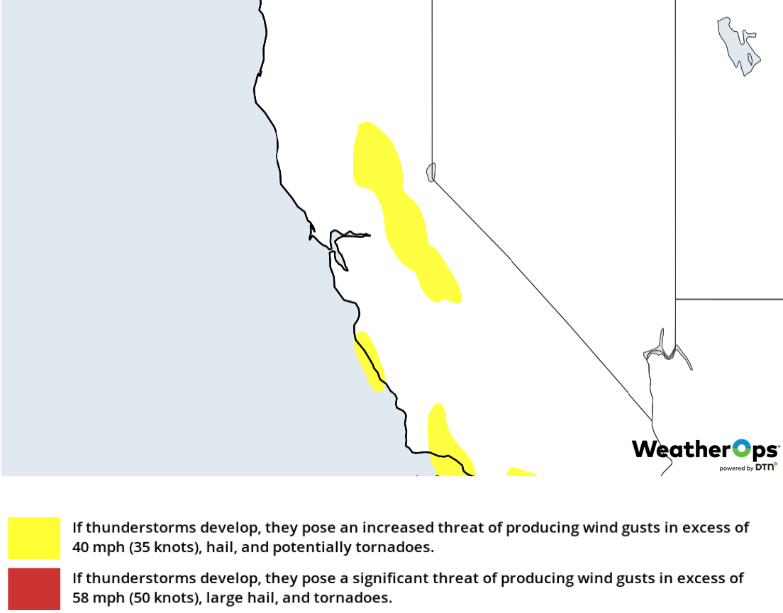Thunderstorm Risk for Thursday, February 14, 2019