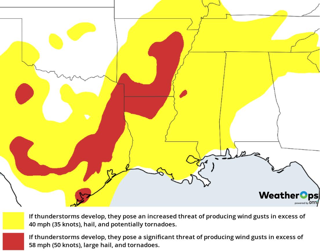 Thunderstorm Risk for Friday, February 22, 2019