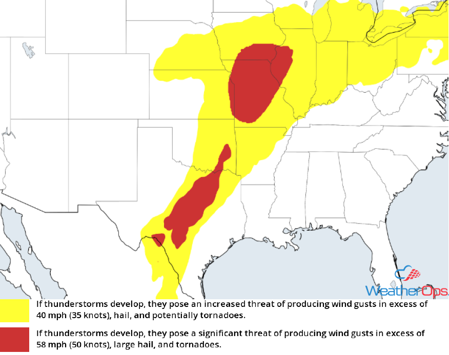 Thunderstorm Risk for Thursday, May 3, 2018