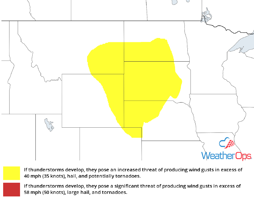 Thunderstorm Risk for Monday, May 7, 2018