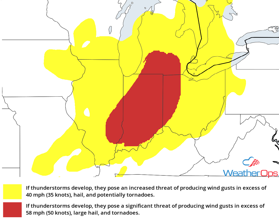 Thunderstorm Risk for Wednesday, May 9, 2018