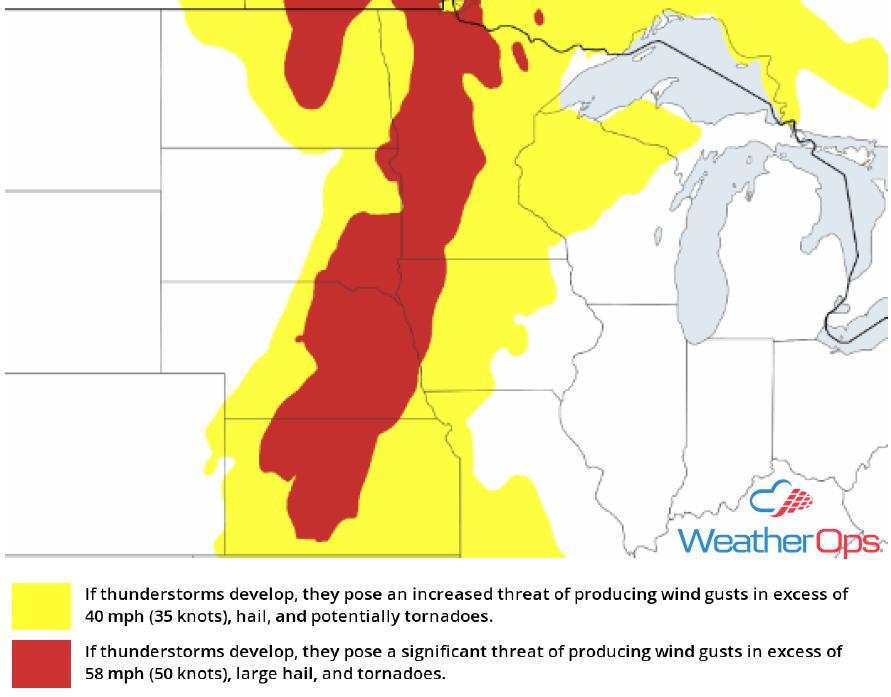 Thunderstorm Risk for Thursday, May 24, 2018