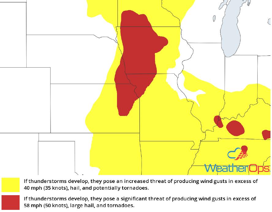 Thunderstorm Risk for Monday, June 11, 2018