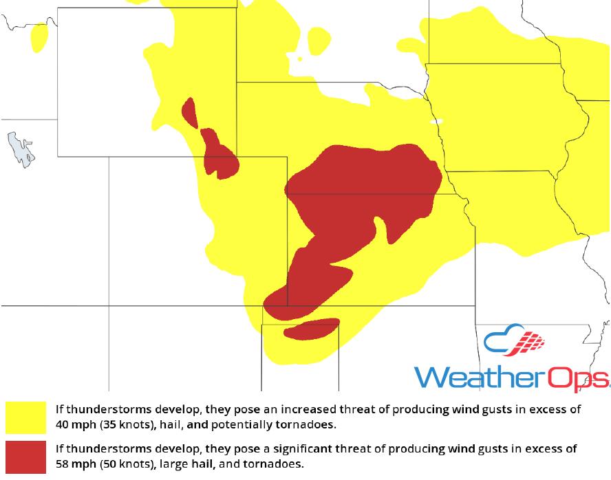 Thunderstorm Risk for Tuesday, June 19, 2018