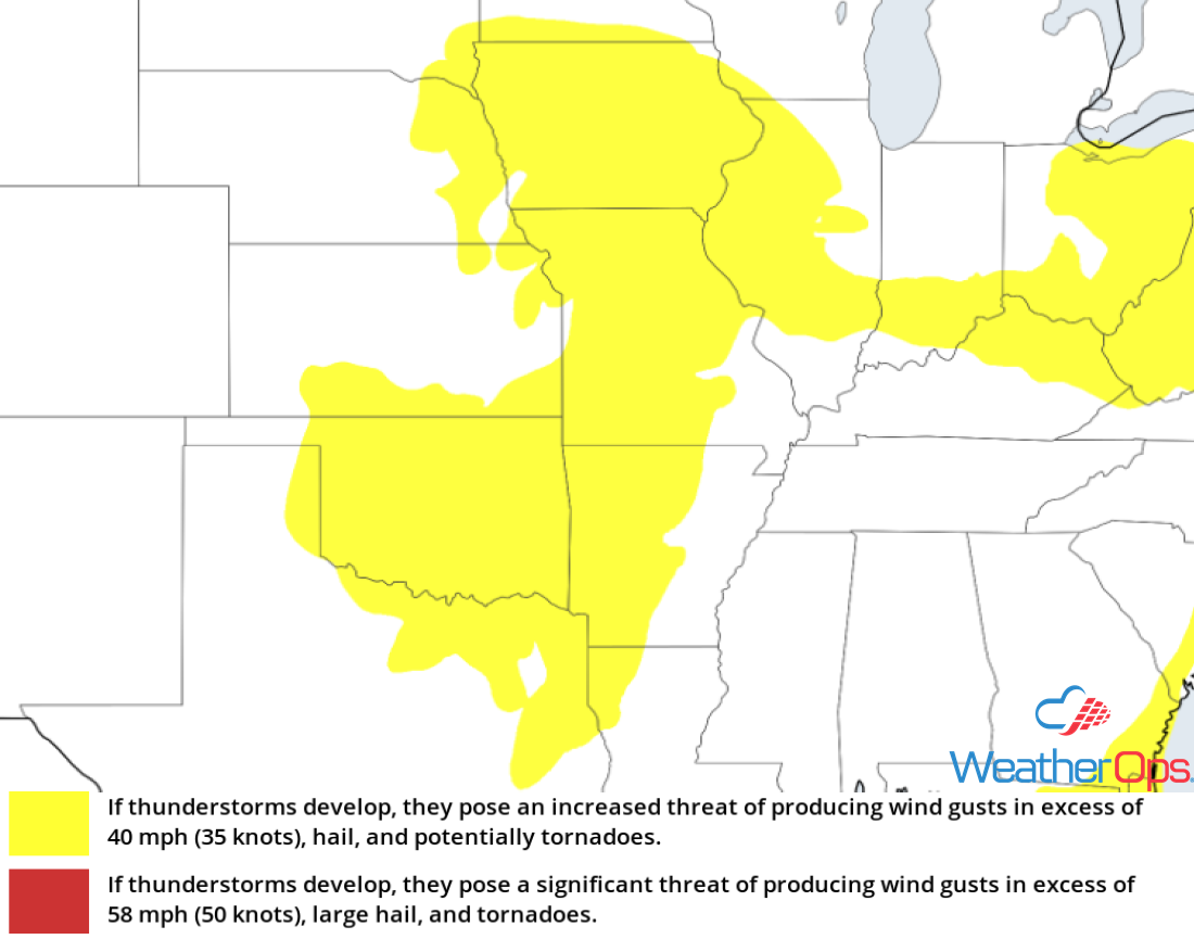 Thunderstorm Risk for Wednesday, June 20, 2018