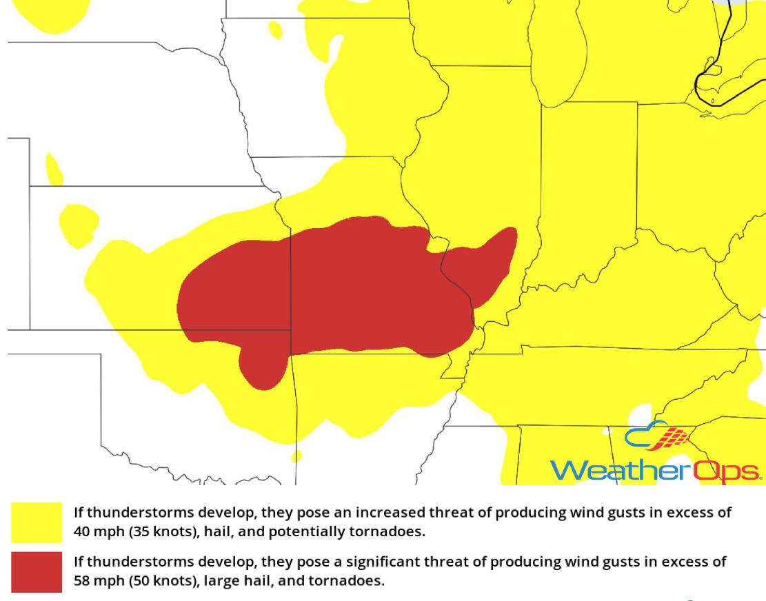 Thunderstorm Risk for Tuesday, June 26, 2018