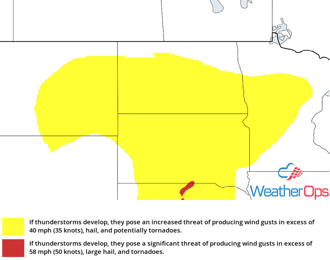 Thunderstorm Risk for Monday, July 2, 2018