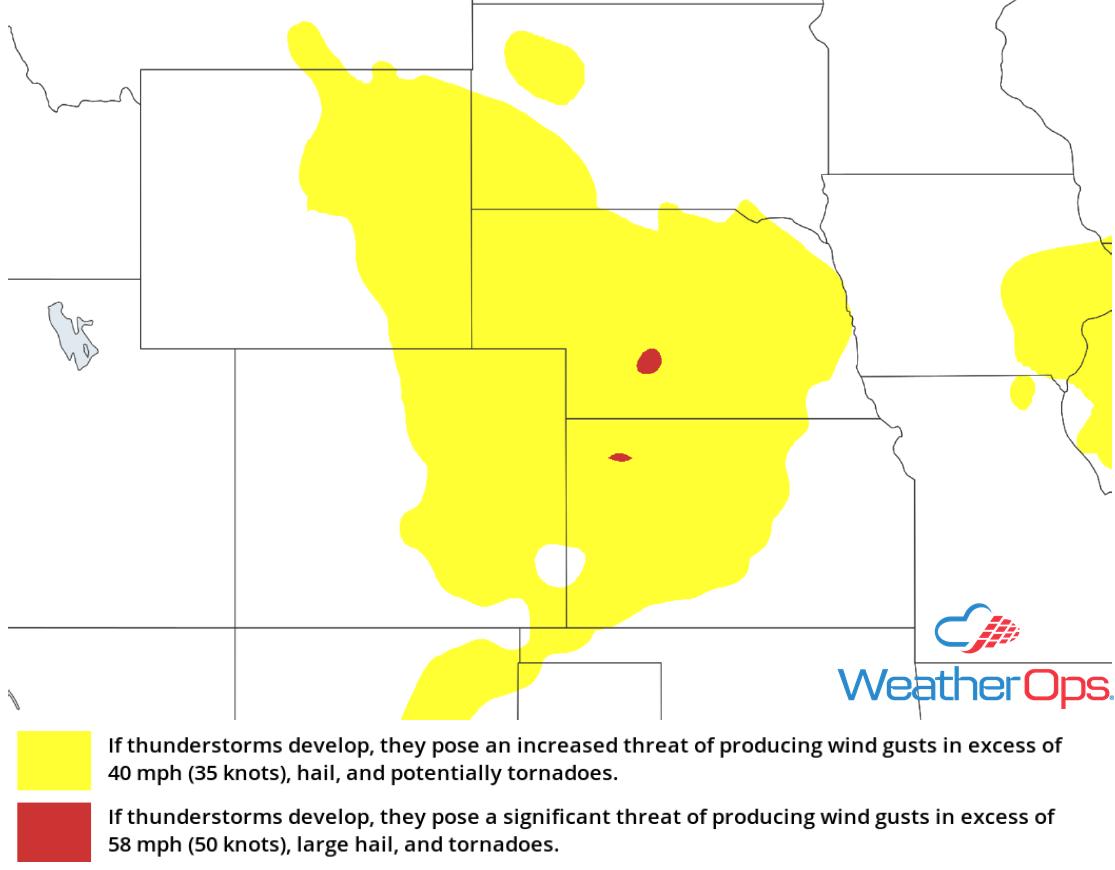 Thunderstorm Risk for Thursday, July 5, 2018