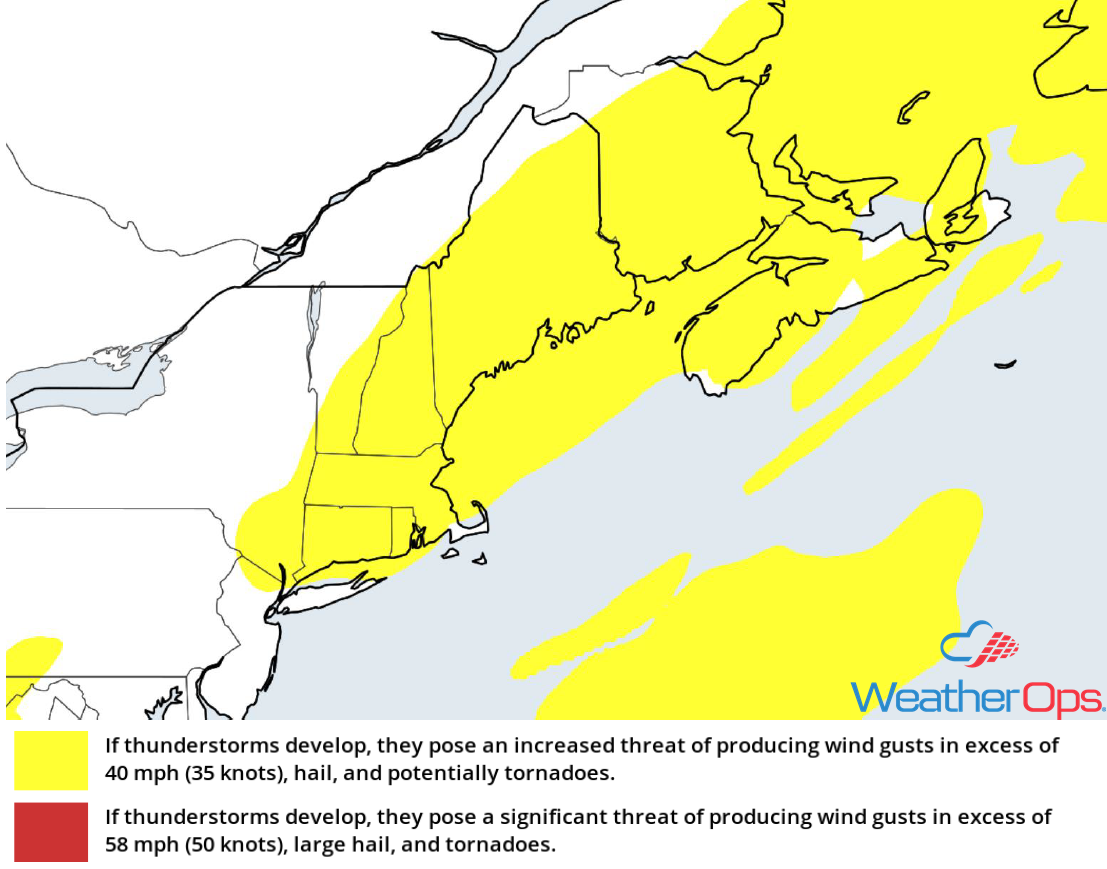 Thunderstorm Risk for Friday, July 6, 2018