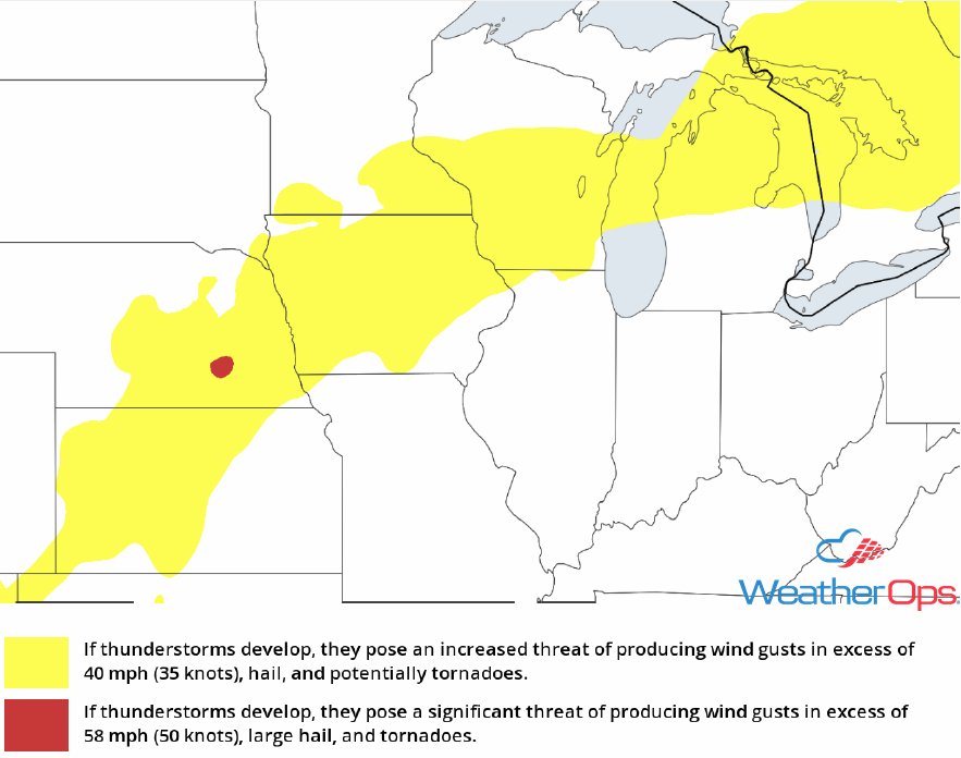Thunderstorm Risk for Friday, July 13, 2018