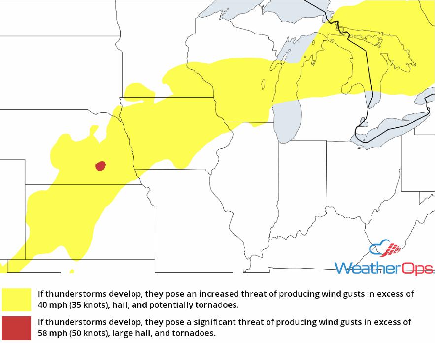 Thunderstorm Risk for Friday, July 13, 2018