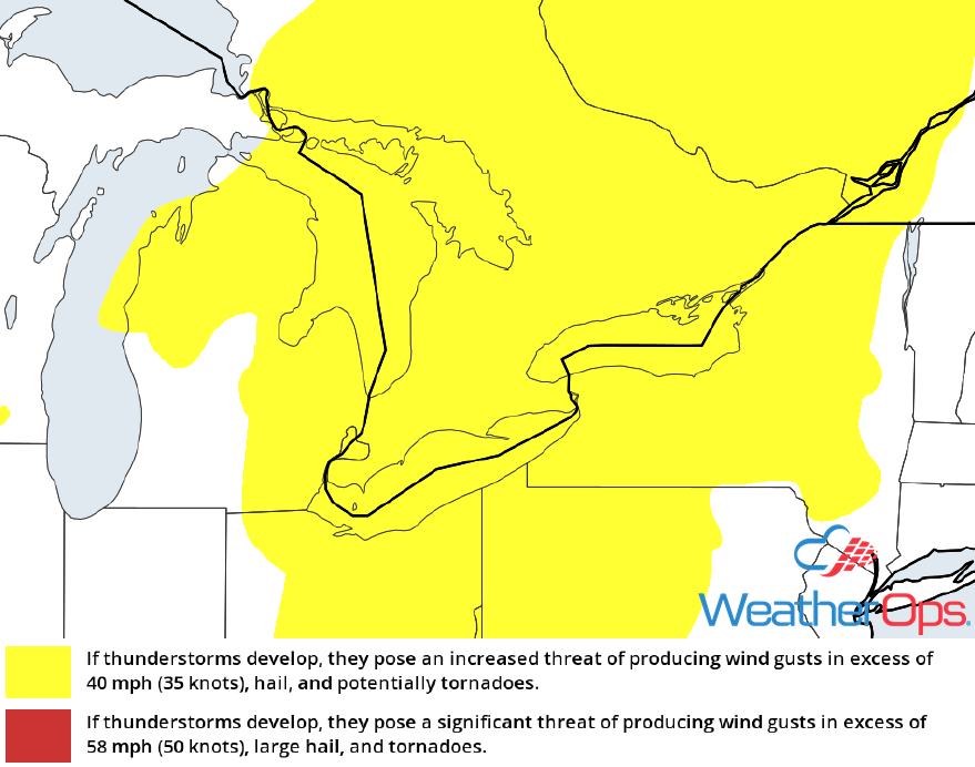 Thunderstorm Risk for Monday, July 16, 2018