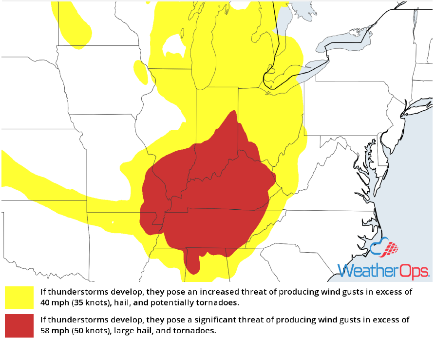 Thunderstorm Risk for Friday, July 20, 2018