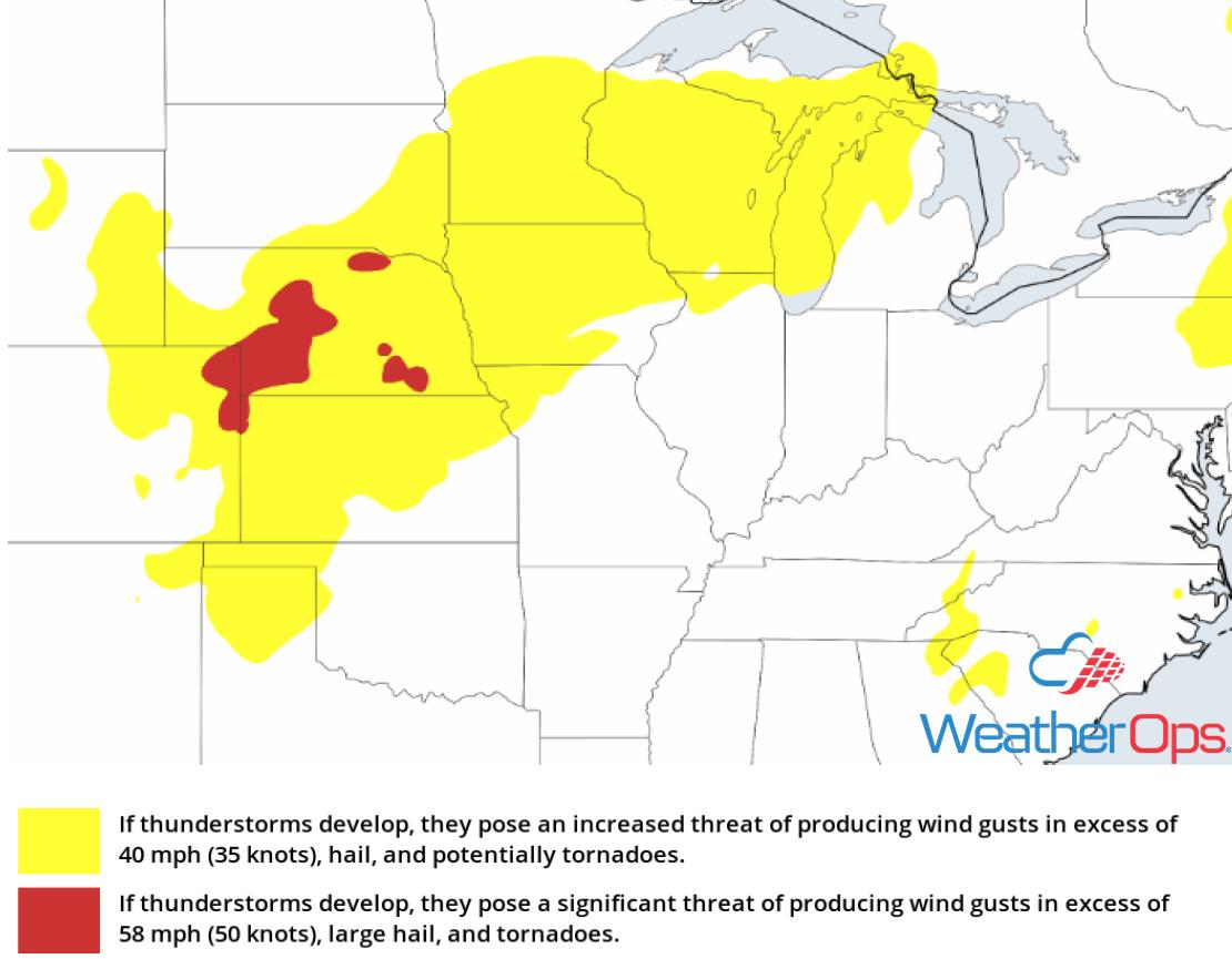 Thunderstorm Risk for Wednesday, July 25, 2018