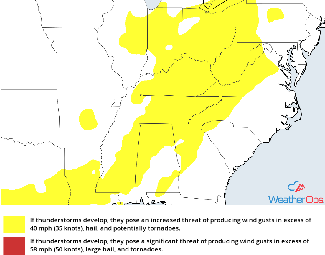 Thunderstorm Risk for Tuesday, July 31, 2018