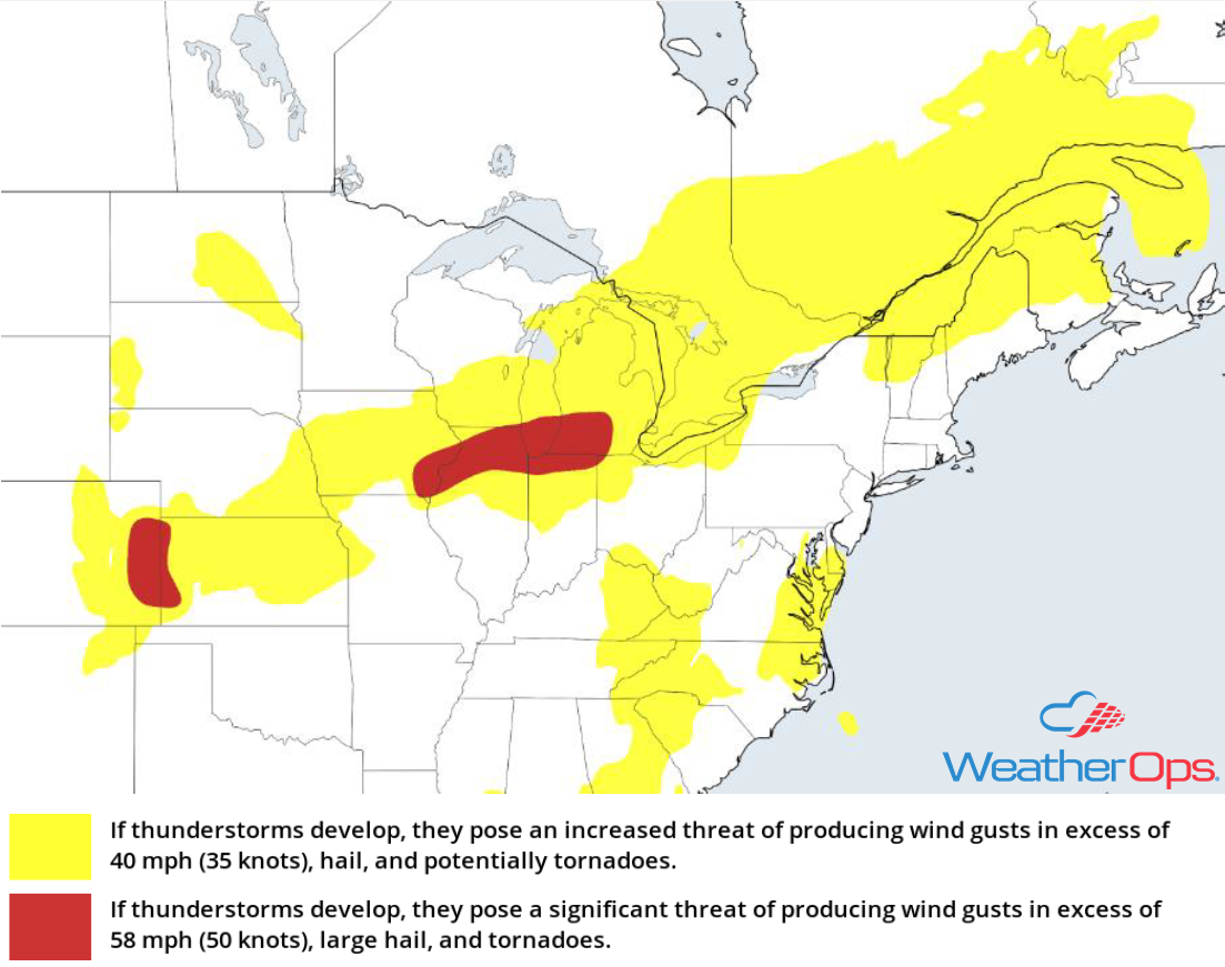 Thunderstorm Risk for Monday, August 6, 2018