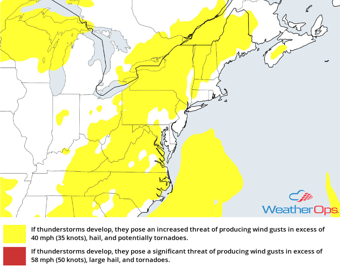 Thunderstorm Risk for Wednesday, August 8, 2018
