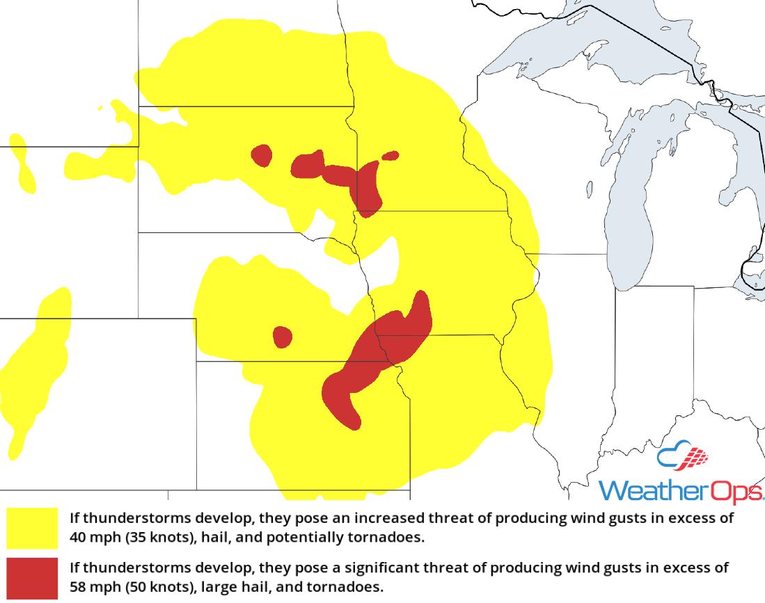 Thunderstorm Risk for Thursday, August 23, 2018