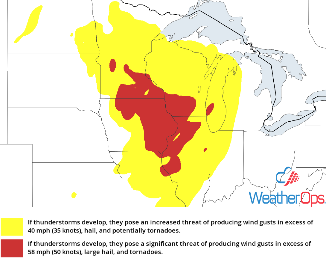 Thunderstorm Risk for Friday, August 24, 2018