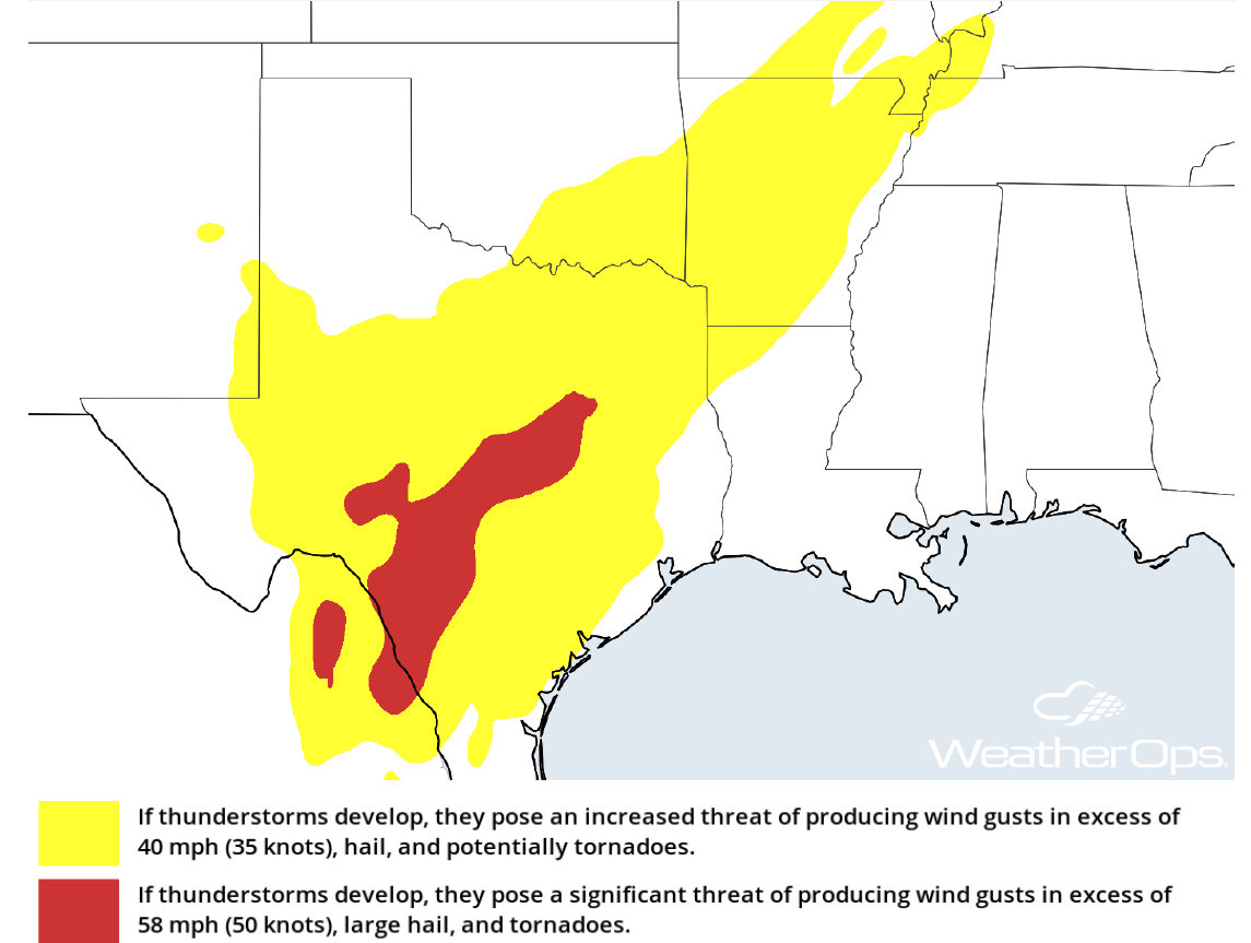 Thunderstorm Potential for Tuesday, March 27, 2018
