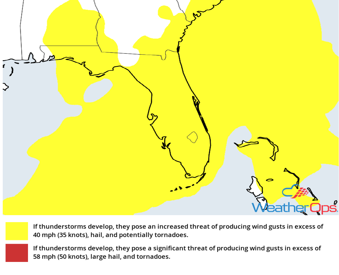 Thunderstorm Risk for Friday, December 14, 2018