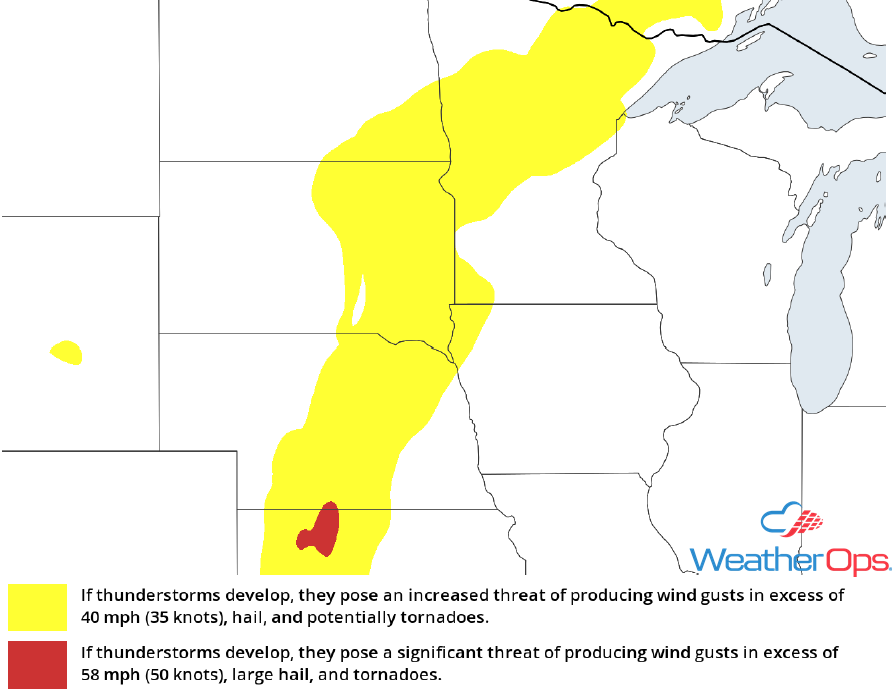 Thunderstorm Risk for Monday, April 30, 2018