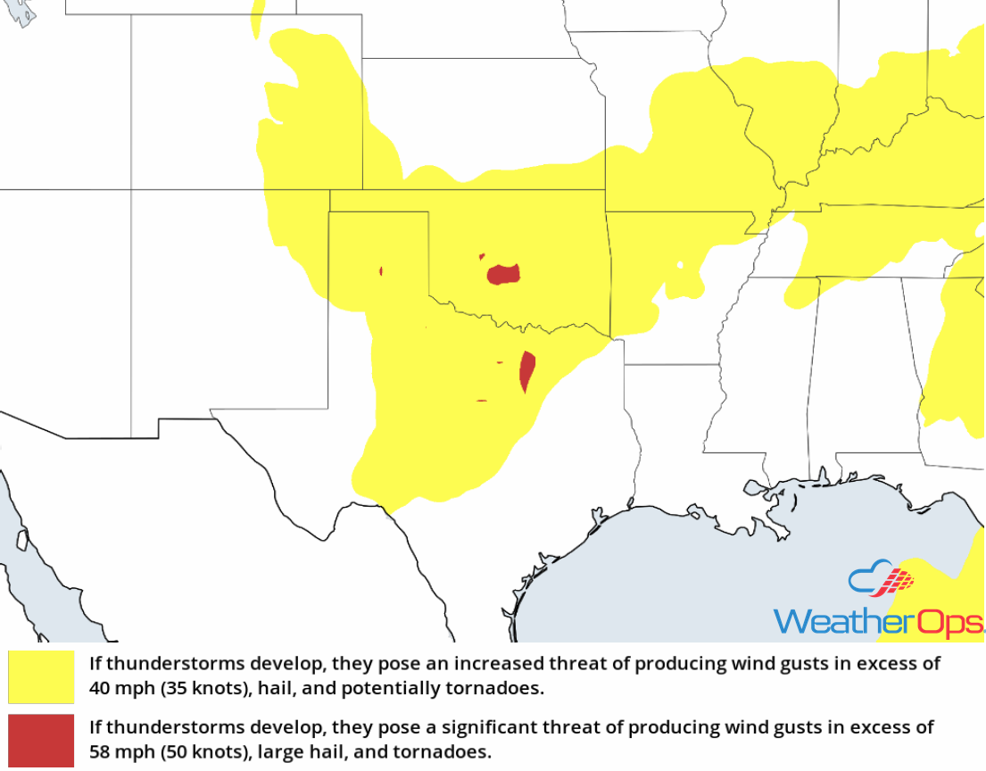 Thunderstorm Risk for Tuesday, May 15, 2018
