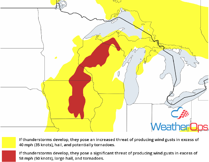 Thunderstorm Risk for Friday, May 25, 2018