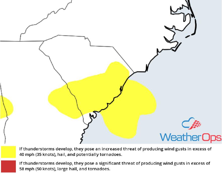 Thunderstorm Risk for Friday, June 15, 2018