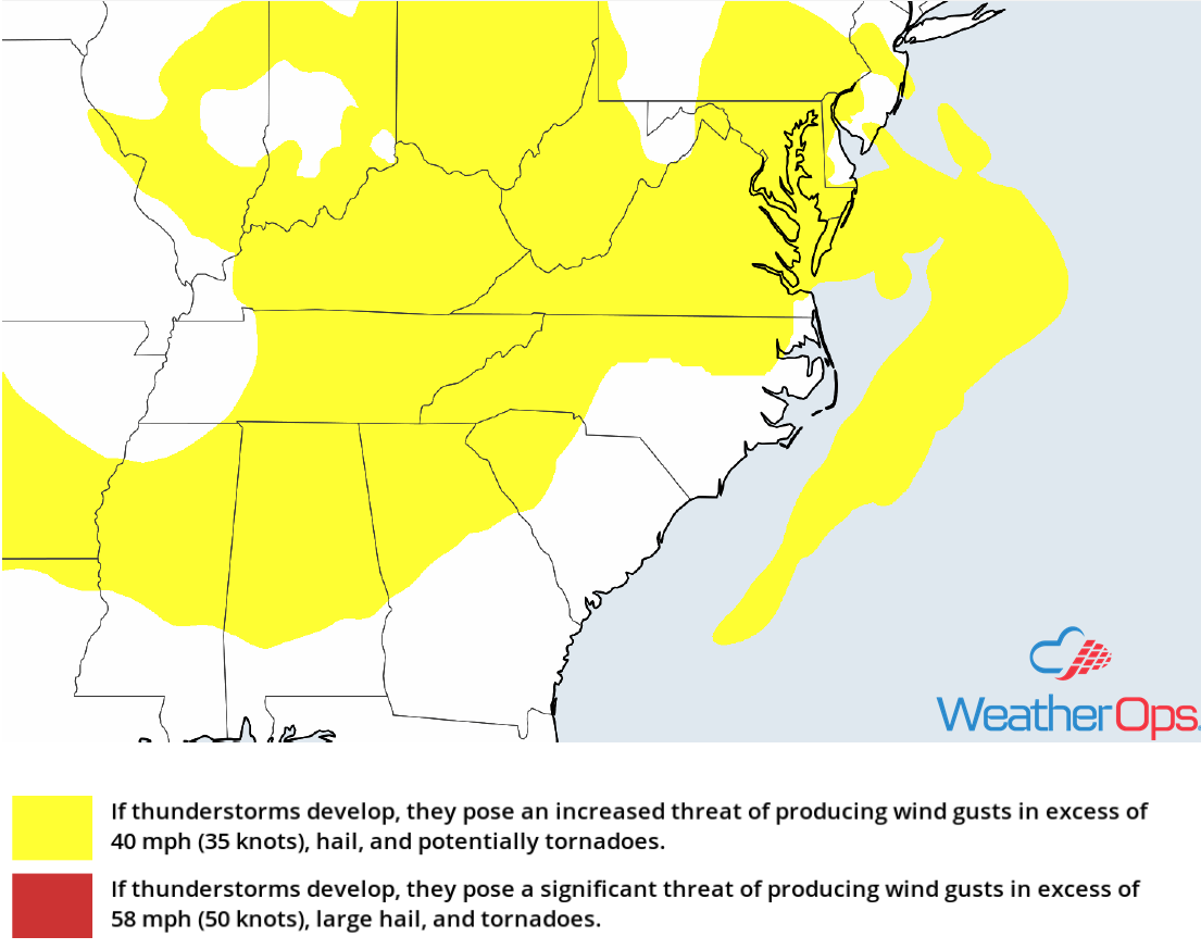 Thunderstorm Risk for Friday, June 22, 2018