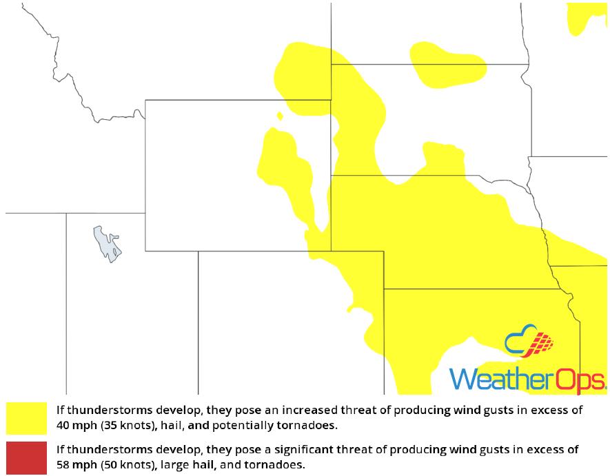 Thunderstorm Risk for Wednesday, June  27, 2018