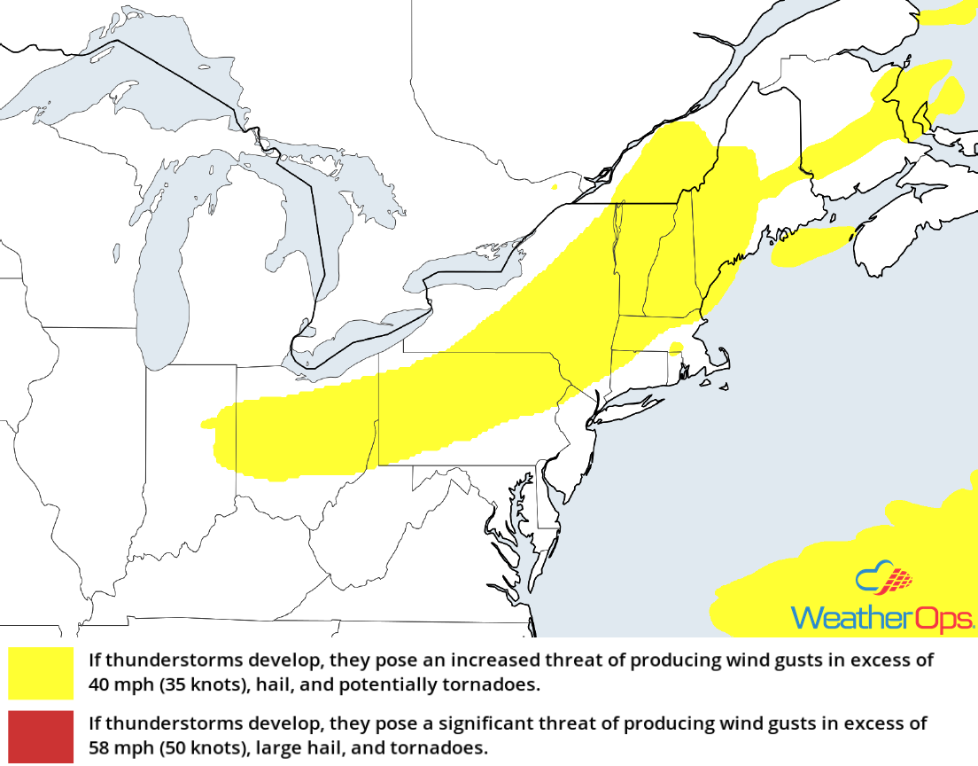 Thunderstorm Risk for Tuesday, July 10, 2018
