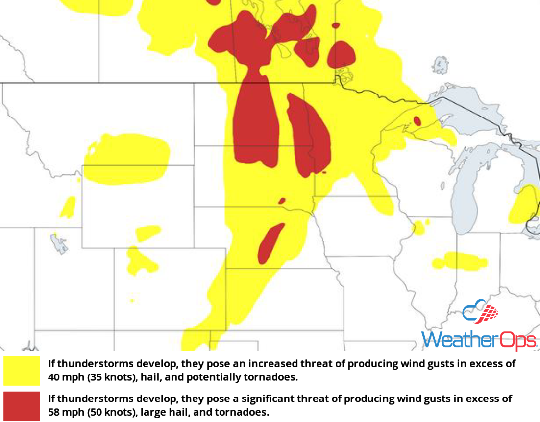Thunderstorm Risk for Friday, August 3, 2018