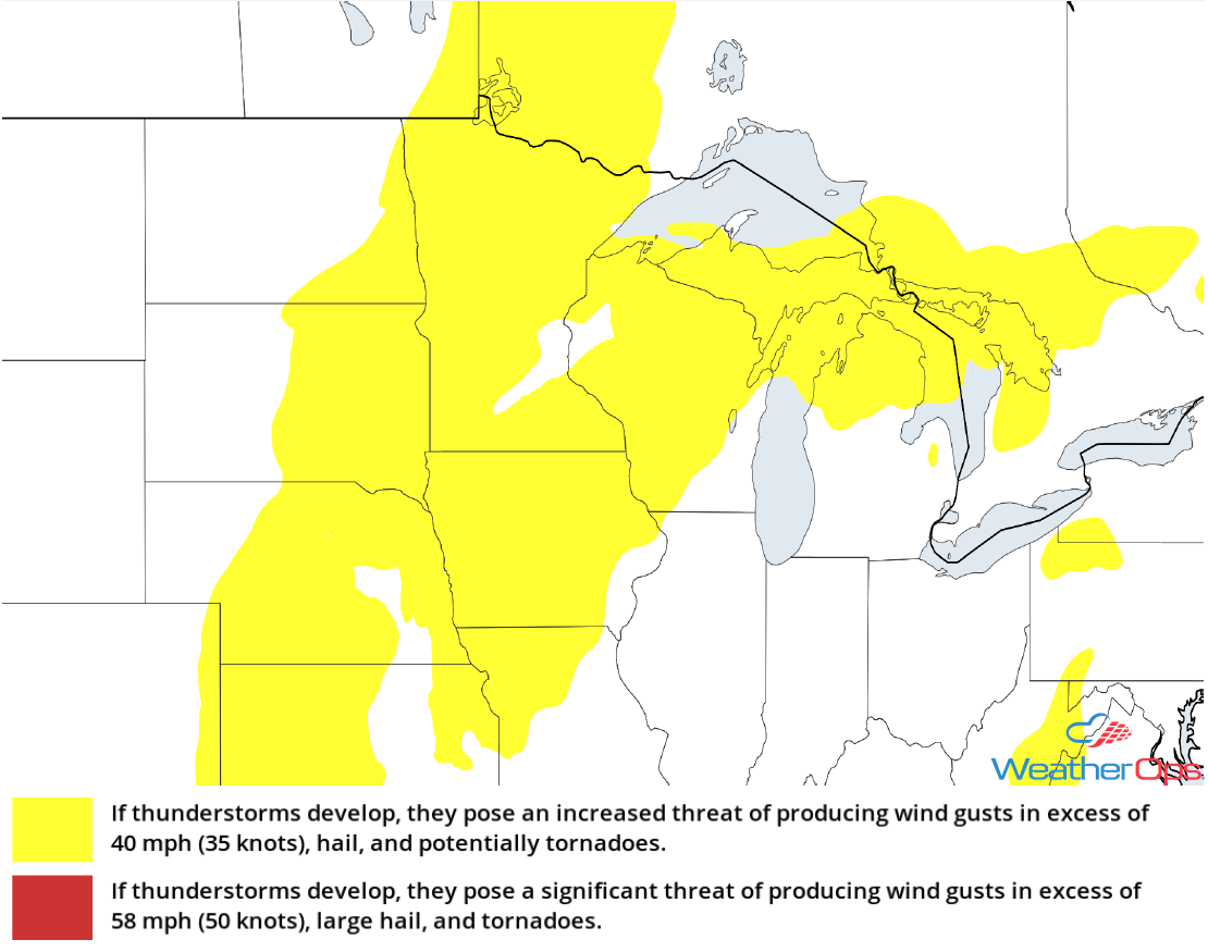 Thunderstorm Risk for Tuesday, September 4, 2018