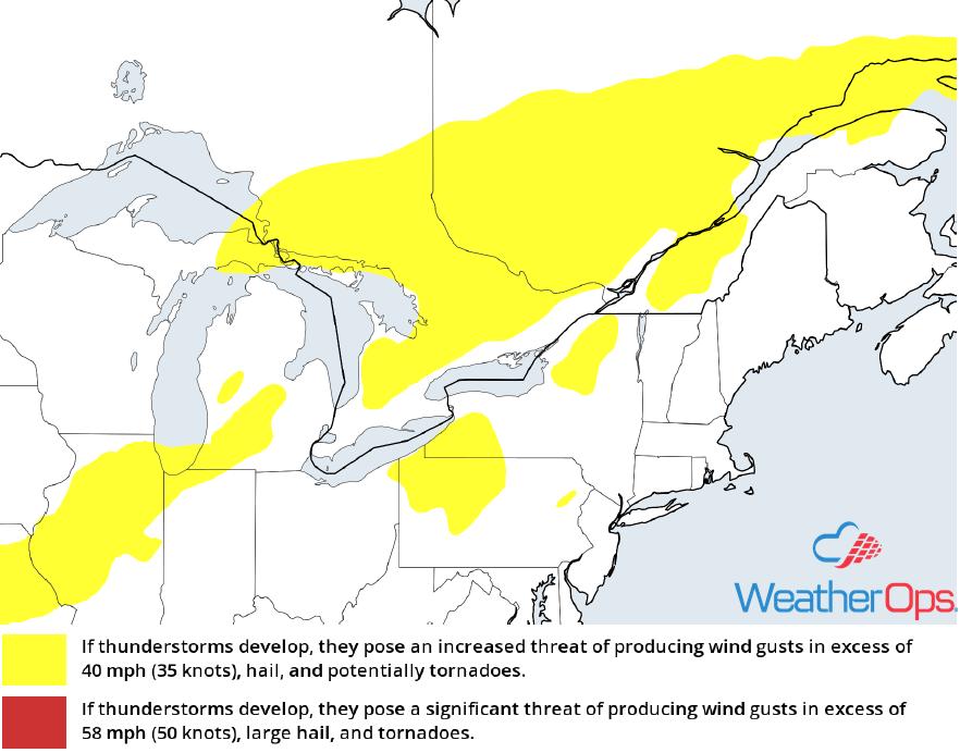 Thunderstorm Risk for Wednesday, September 5, 2018