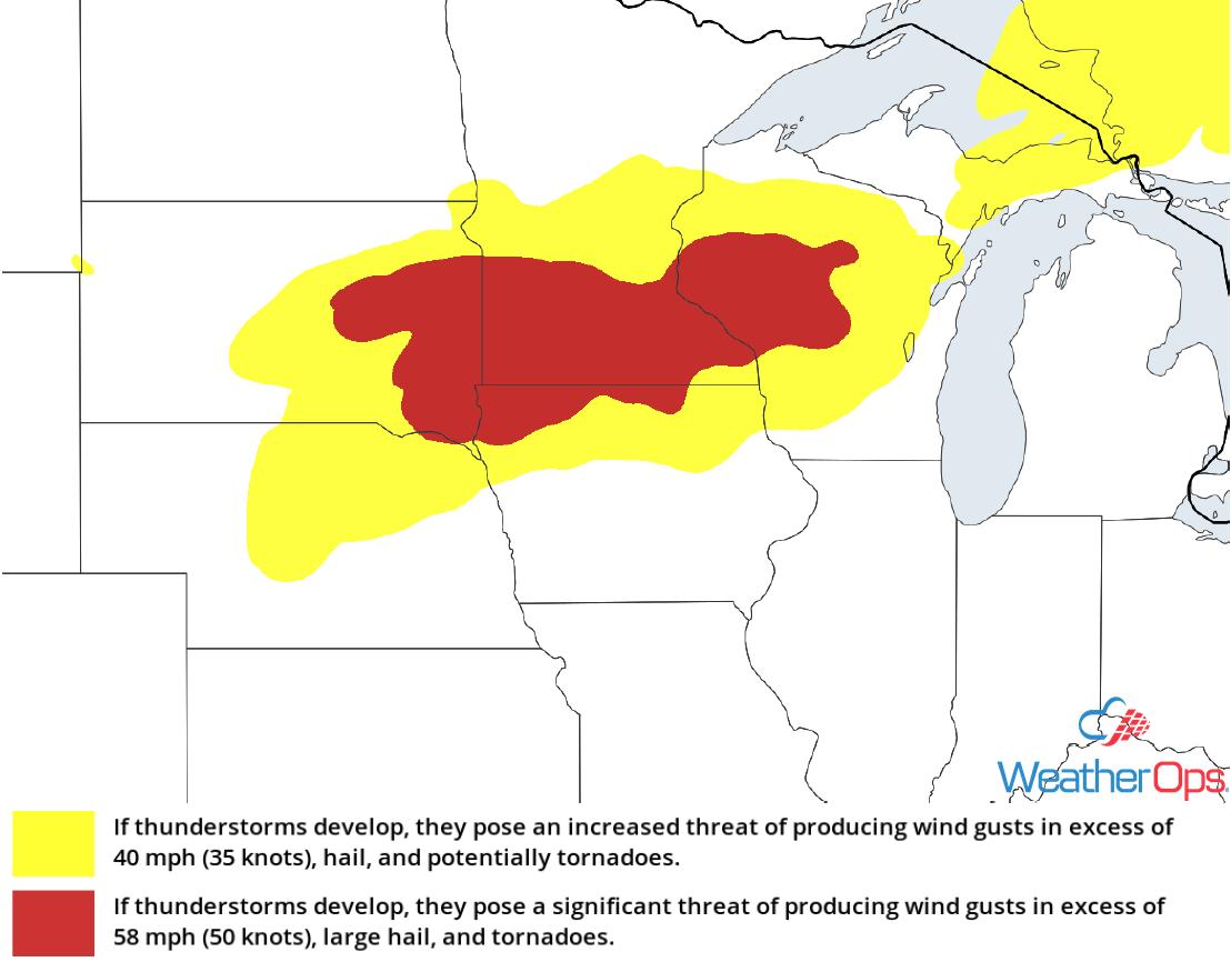 Thunderstorm Risk for Monday, September 21, 2018