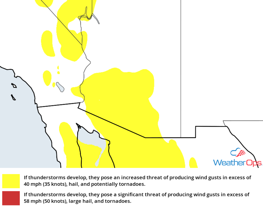 Thunderstorm Risk for Monday, October 1, 2018