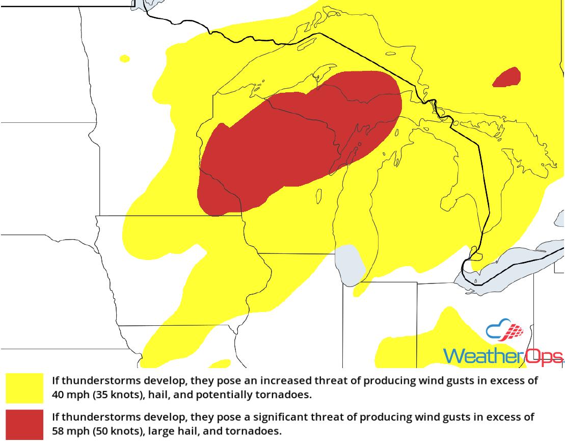 Thunderstorm Risk for Wednesday, October 3, 2018