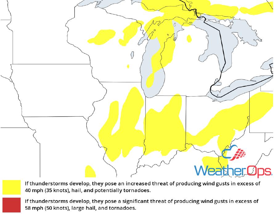 Thunderstorm Risk for Wednesday, October 10, 2018