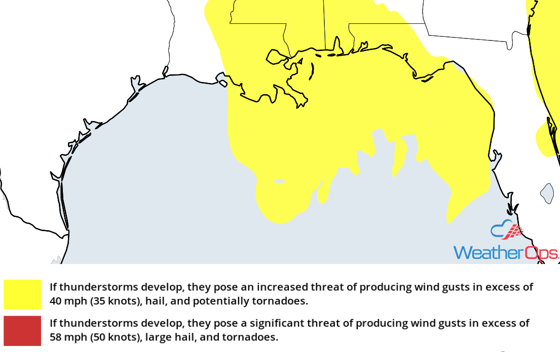 Thunderstorm Risk for Thursday, October 25, 2018