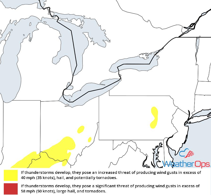 Thunderstorm Risk for Thursday, November 1, 2018
