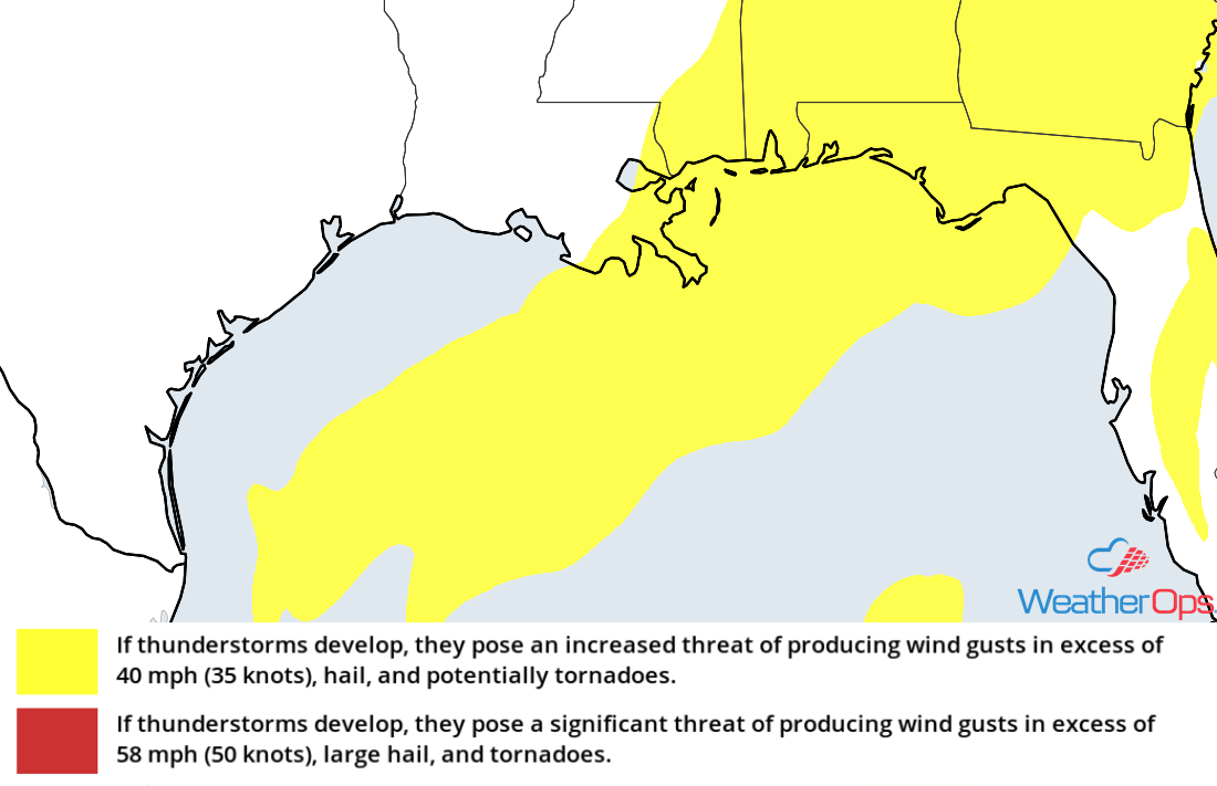 Thunderstorm Risk for Friday, December 28, 2018