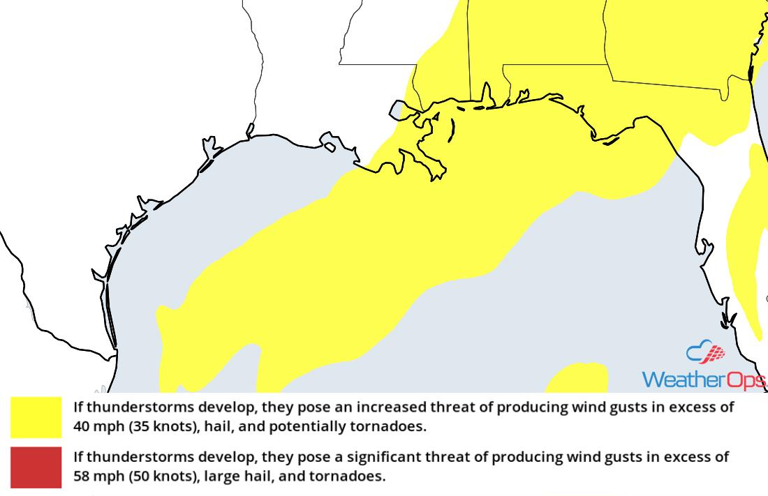Thunderstorm Risk for Friday, December 28, 2018