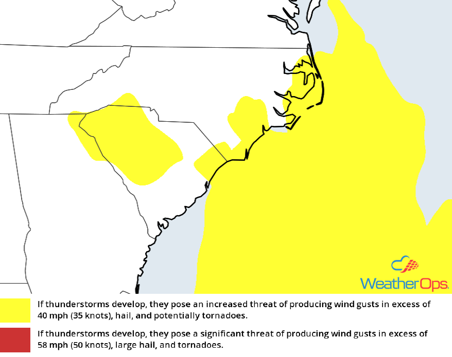 Thunderstorm Potential For Tuesday, April 24, 2018