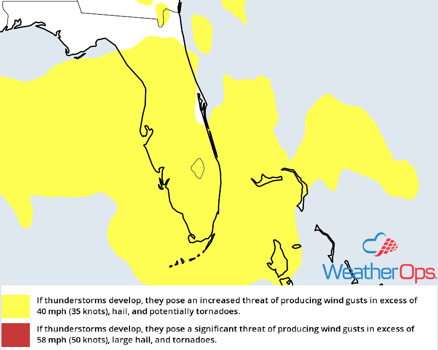 Thunderstorm Risk for Monday, July 23, 2018