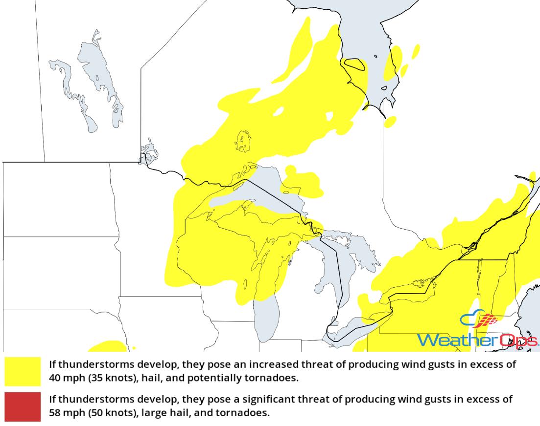 Thunderstorm Risk for Wednesday, August 8, 2018