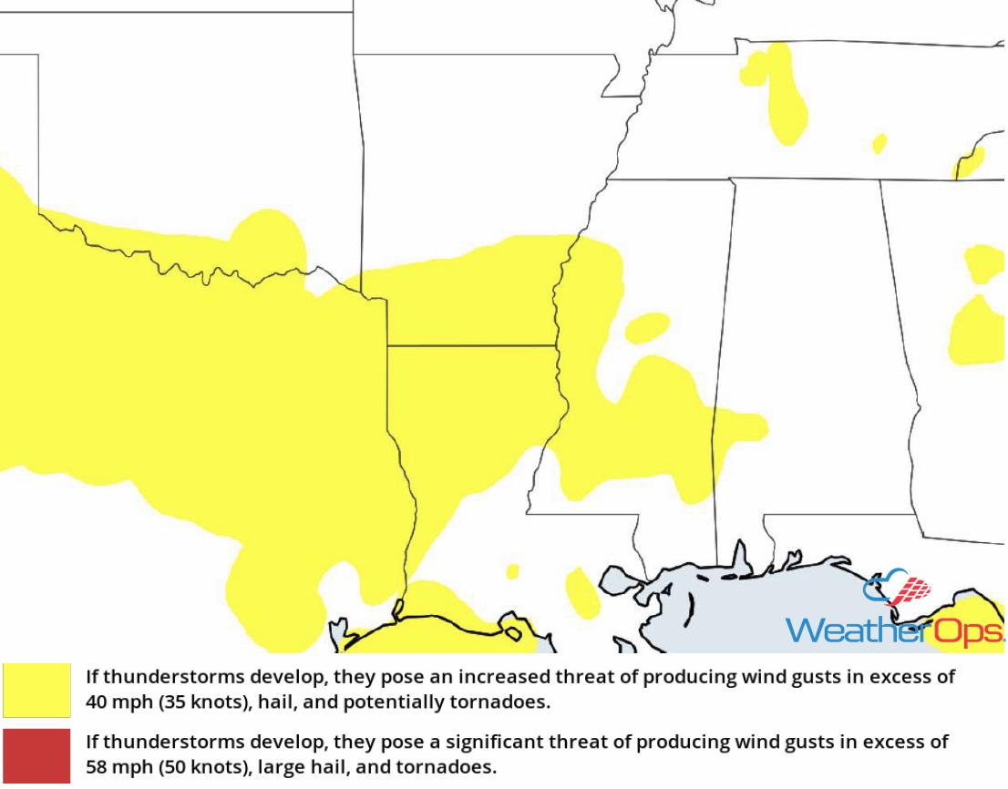 Thunderstorm Risk for Thursday, August 9, 2018