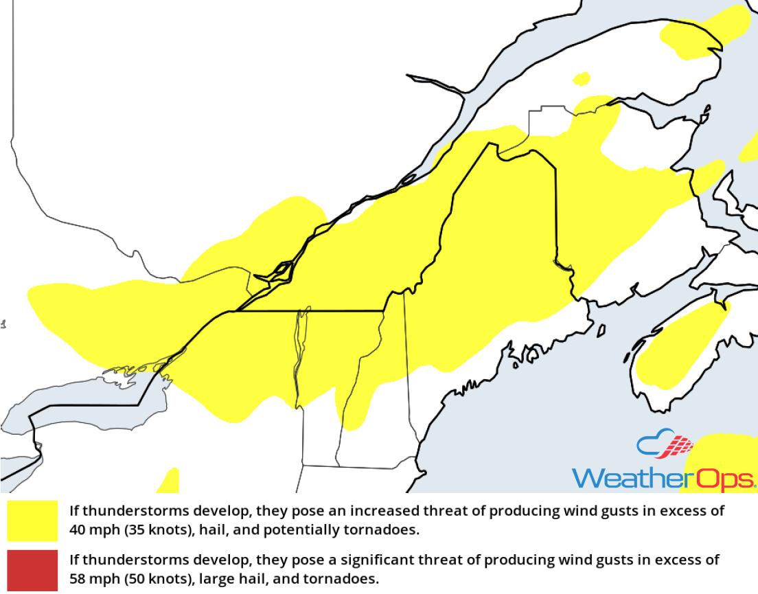 Thunderstorm Risk for Wednesday, August 15, 2018