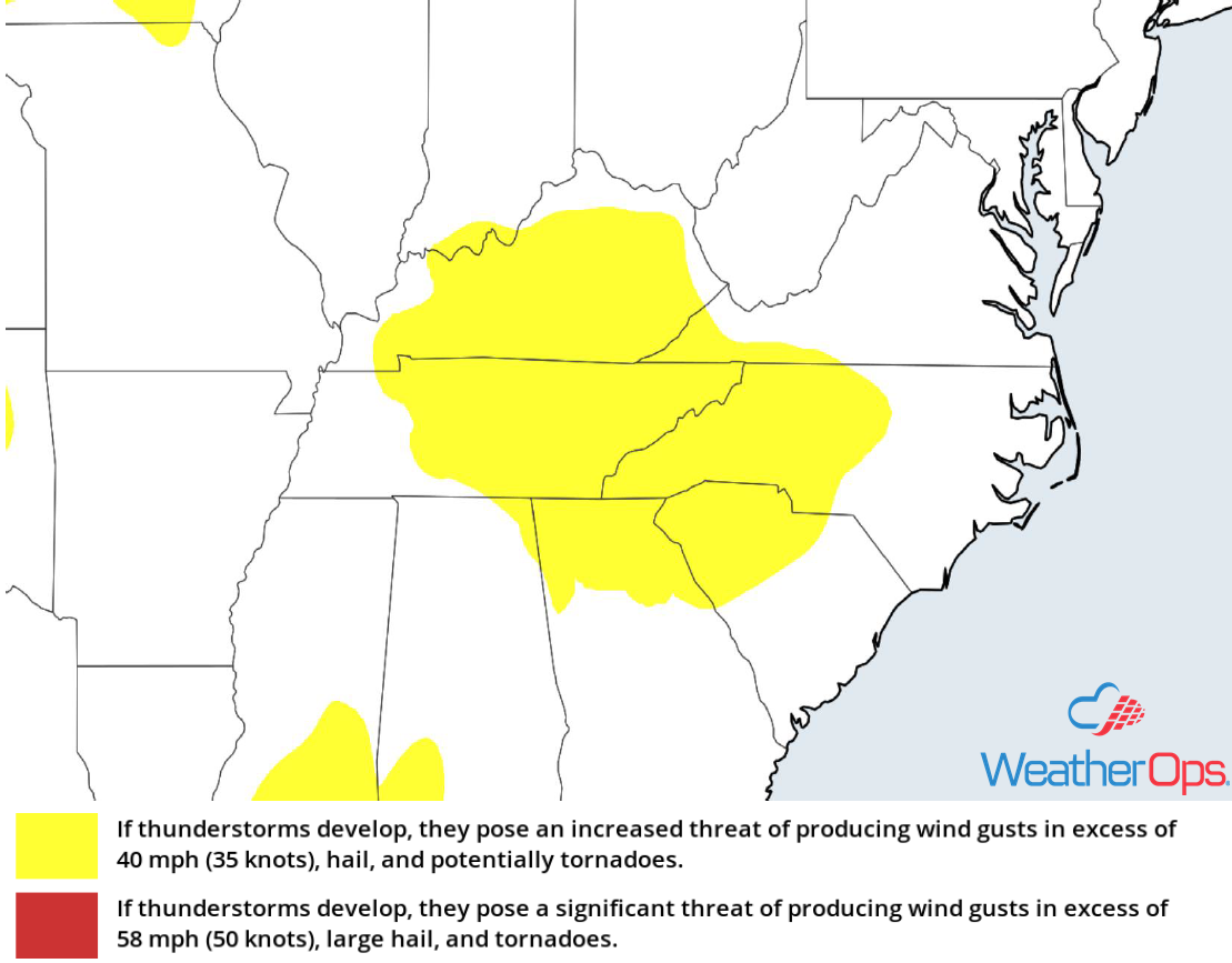Thunderstorm Risk for Tuesday, May 29, 2018