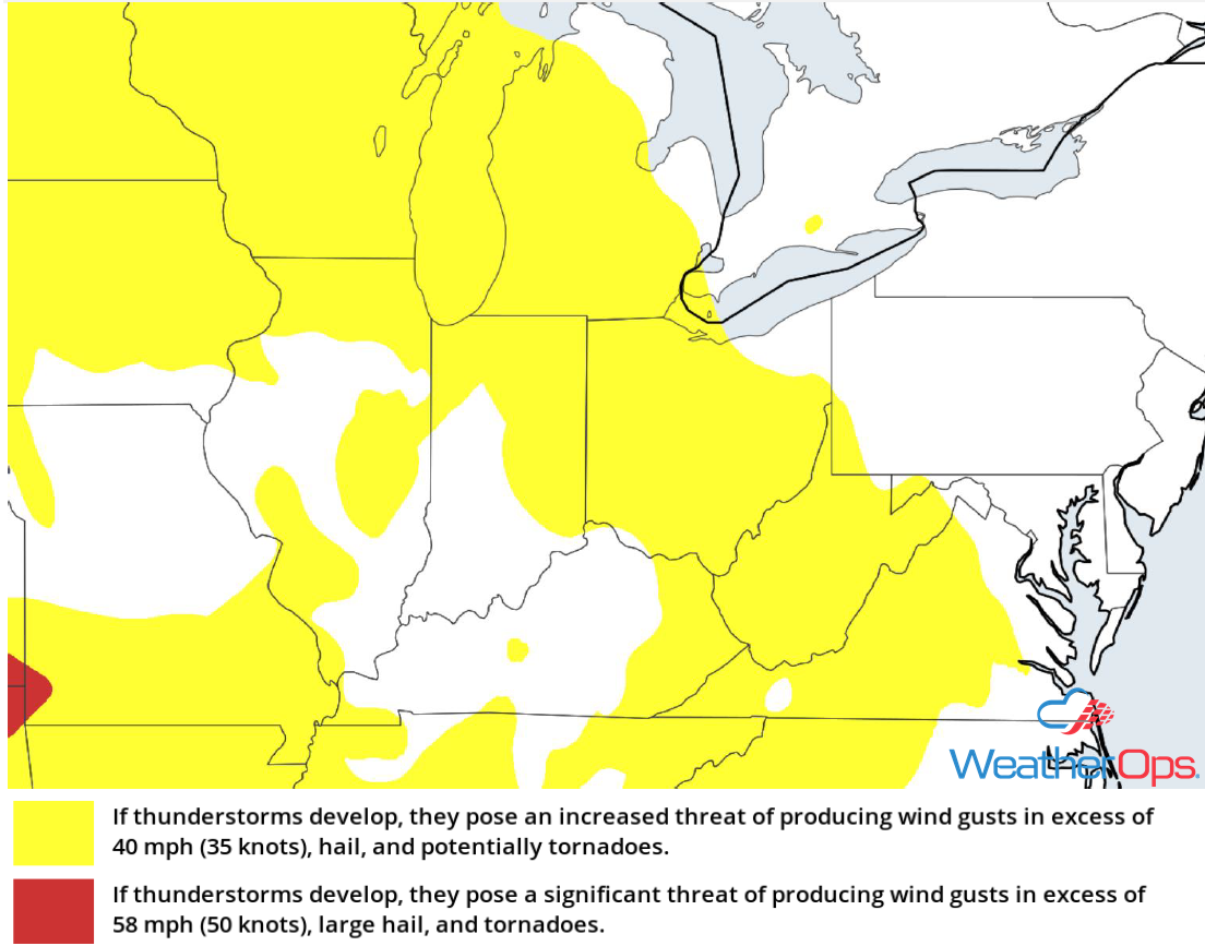 Thunderstorm Risk for Wednesday, May 30, 2018